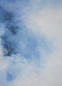 """"""" Triptichon in Blau 3 """" ,  74 x 100 cm ,   Acryl auf Papier"""