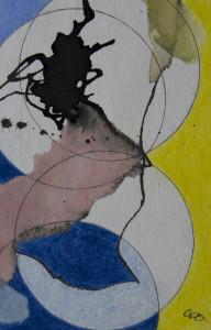 """""""ohne titel"""". 10x15 cm, Acryl, Tinte, Fineliner, Bleistift"""