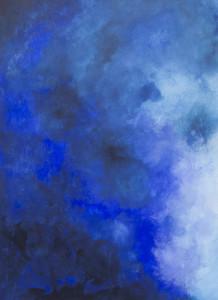 """"""" Triptichon in Blau 2 """" ,  74 x 100 cm ,   Acryl auf Papier"""