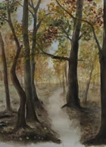 """""""Wald"""", 33x42 cm, Aquarell auf Papier, 2012"""