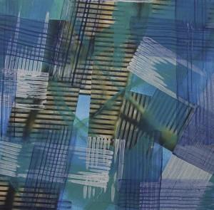 """""""Highways"""", 30x32 cm, Collage und Acryl auf Papier"""