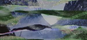 """"""" ohne Titel """", 28 x 13 cm, Collage und Acryl auf Papier"""