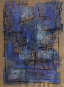 """""""ohne Titel"""", 24x32 cm, Pastell und Kohle auf Papier"""