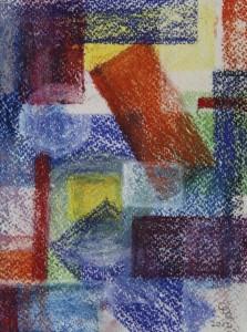 """""""ohne Titel"""", 14x17 cm, Pastell auf Papier"""
