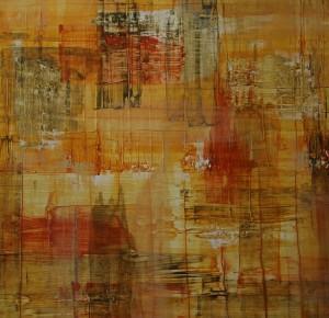 """""""ohne Titel"""", 38x38 cm, Acryl auf Papier"""