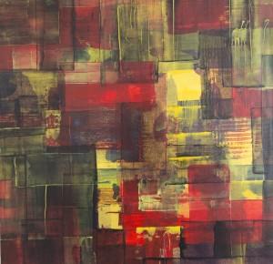 """""""ohne Titel"""", 39x39cm, Acryl auf Papier auf Holz"""