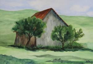 Aquarell auf Papier, 50 x 38 cm, 2018