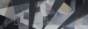 """""""l`art de vivre"""", 140x40 cm, Collage und Acryl auf Leinwand, 2015"""