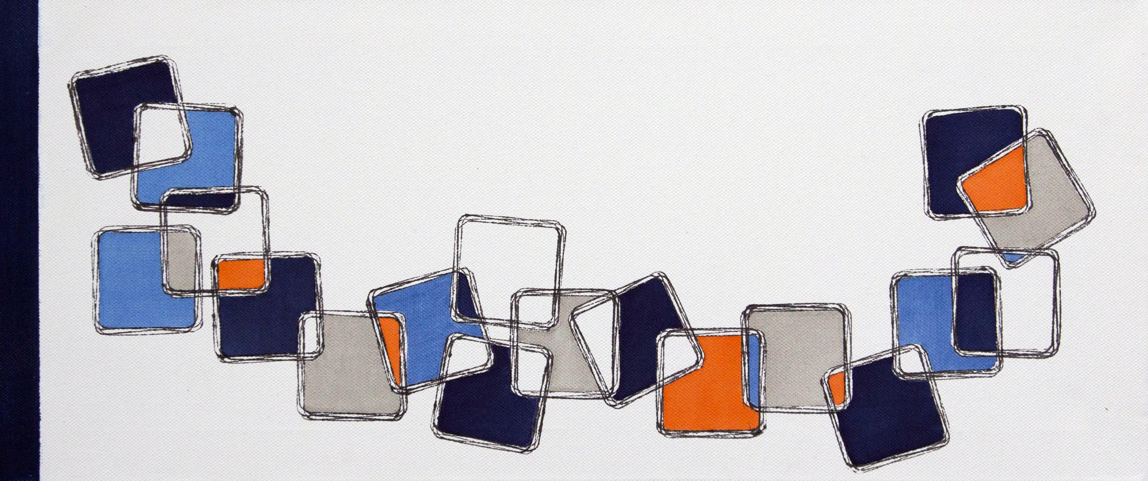 """""""ohne Titel"""", 25 x 58 cm, Acryl und Fineliner auf Leinwand"""