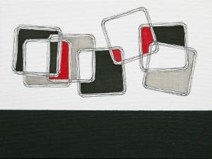 """Equlibrium 2"", 18 x 24 cm, Acryl und Fineliner auf Malkarton"